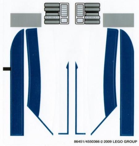 8036stk01 STICKER STAR WARS Separist Shuttle NIEUW loc