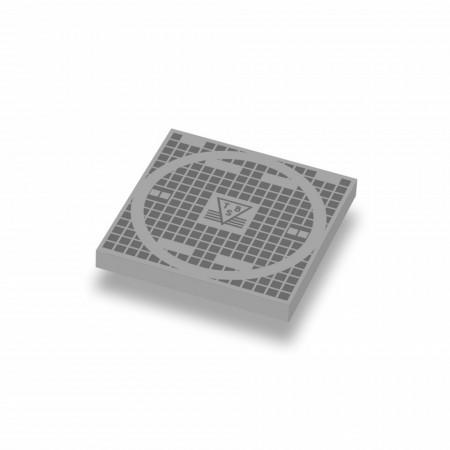CUSE8169 Putdeksel, tegel 2x2 grijs, licht (blauwachtig) *0A000