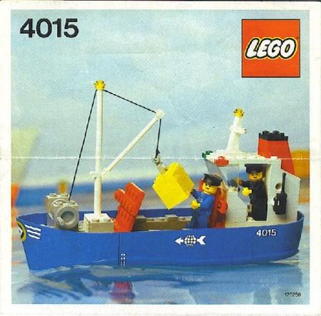 INS4015-G 4015 BOUWBESCHRIJVING- Vrachtboot gebruikt *LOC M1