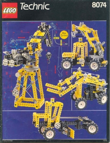 INS8074-G 8074 BOUWBESCHRIJVING- Universal Building Set gebruikt *loc m7