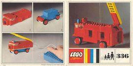 Set 336 BOUWBESCHRIJVING Brandweer ladderwagen  gebruikt loc