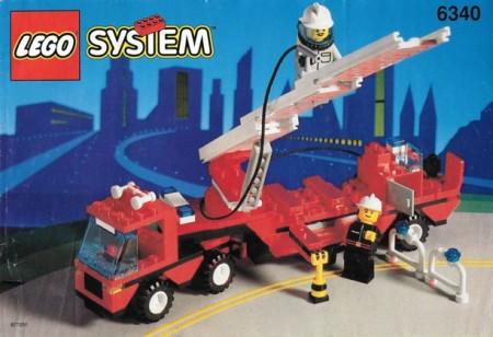 Set 6340 BOUWBESCHRIJVING- Jhook&Ladder Ruimtevaart gebruikt loc LOC M2
