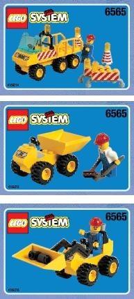 Set 6565 BOUWBESCHRIJVING- Construction Crew gebruikt loc
