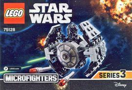 Set 75128 BOUWBESCHRIJVING-  SW: TIE advanced Prototype Star Wars NIEUW loc