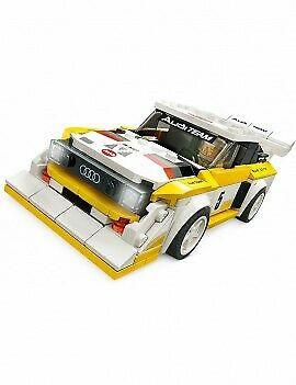 Set 76897-GB Audi Sport Quattro S1 gebruikt deels gebouwd *B036