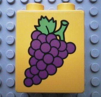 4066pb059-3G DUPLO steen 1x2x2 Druiven geel gebruikt *