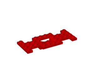 4212b-5EG EUROVOORDEEL:      5x 'Bodemplaat auto 10x4x2/3 GEEN gat in bodem rood gebruikt loc