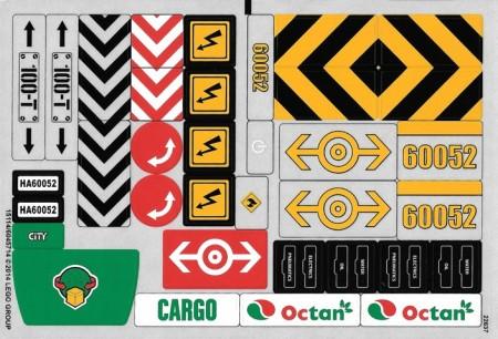 60052stk01 STICKER 60052 Cargo Train NIEUW loc