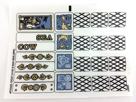 70810stk01 STICKER 70810 Metalbeard's Sea Cow NIEUW *0S0000