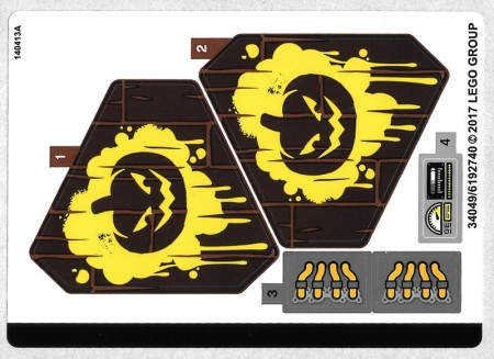 70913stk01 STICKER: SUPERHEROES Scarecrow Fearful Face-off NIEUW *0S0000