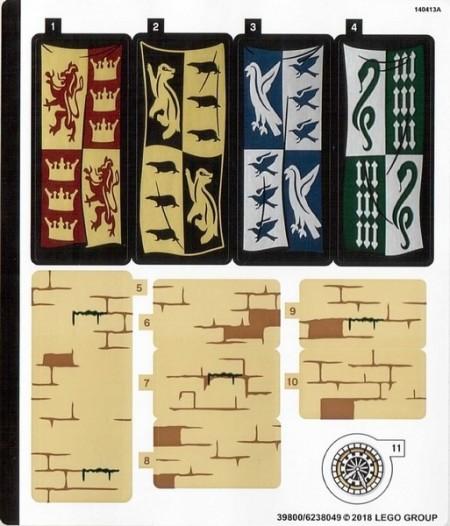 75954stk01 STICKER 75954 HARRY POTTER: Great Hall sticker 1 NIEUW *0S0000