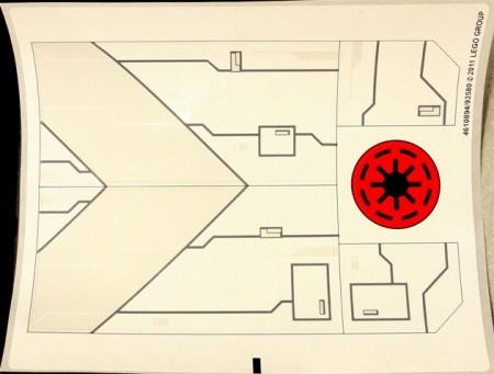 7931stk01 STICKER T6 Jedi Shuttle NIEUW *0S0000
