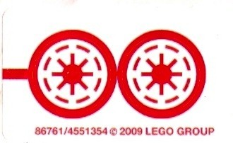 8037stk01 STICKER STAR WARS Anakin's Y-wing Starfighter NIEUW loc