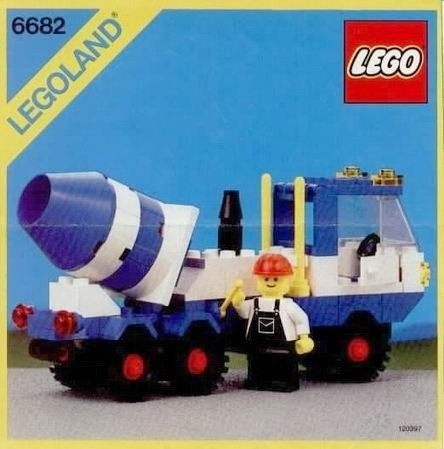 INS6682-G 6682 BOUWBESCHRIJVING- Cement Mixer gebruikt *LOC M3