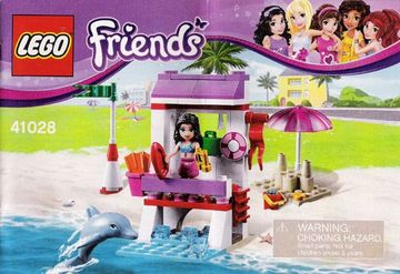 Set 41028-G - Friends: Emma's Lifeguard Post D/H/97%- gebruikt