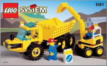 Set 6581 BOUWBESCHRIJVING- Dig 'n Dump gebruikt loc LOC M3