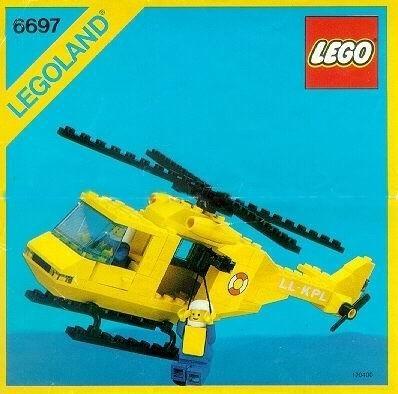 Set 6697 BOUWBESCHRIJVING- Rescue Helicopter Helikopter gebruikt loc LOC M3