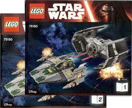 Set 75150 BOUWBESCHRIJVING-  SW: Vader's TIE advanced vs. A-Wing Starfighter Star Wars NIEUW loc