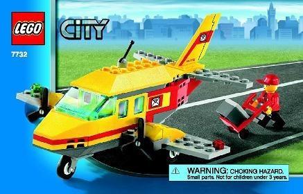 Set 7732 BOUWBESCHRIJVING- Town: Air Mail Vliegtuigen gebruikt loc