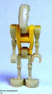 sw184 Star Wars:Battle Droid Commander with Straight Arm and Yellow Torso NIEUW loc