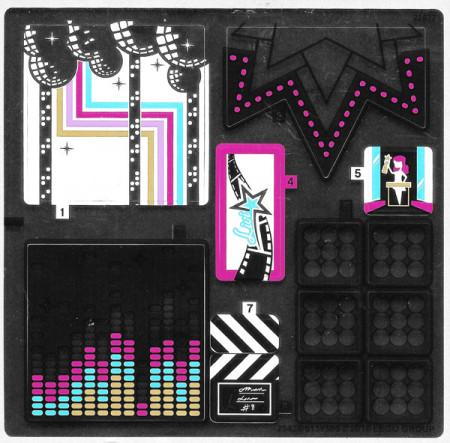 41117stk01 STICKER Friends Pop Star Studio NIEUW *0S0000