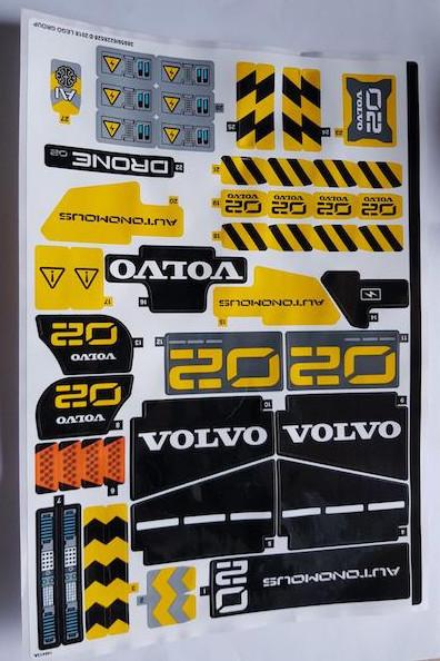 42081stk01 STICKER 42081 Volvo Concept Wheel Loader ZEUX NIEUW loc