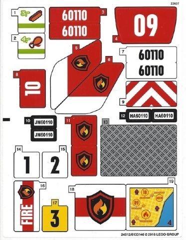60110stk01 STICKER: Fire Station NIEUW *0S0000