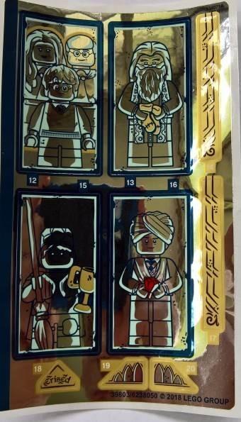 75954stk02 STICKER 75954 HARRY POTTER: Great Hall sticker 2 NIEUW *0S0000