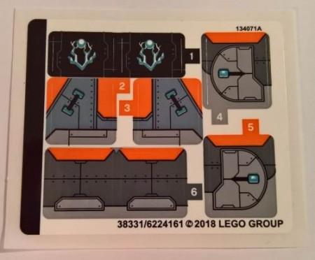 76102stk01 STICKER 76102 Thor's Weapon Crest NIEUW loc