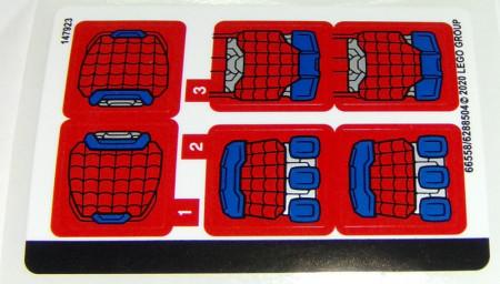 76146stk01 STICKER 76146 Spider-Man Tech NIEUW loc