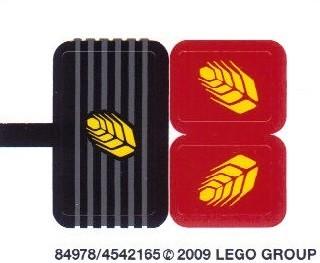 7634stk01 STICKER: Tractor NIEUW *0S0000