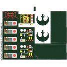 7754stk01 STICKER Star Wars Home One Mon Calami Star Cruiser NIEUW loc