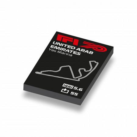 CUS1044 Formule 1 circuit Abu Dhabi wit NIEUW loc Motorsport