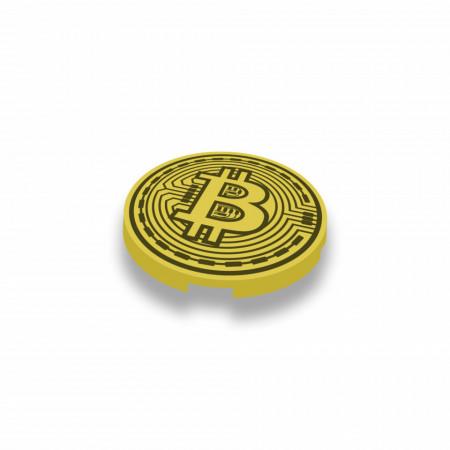 CUSE8167 BRICKCOIN ronde tegel 2x2 goud, parel *0A000