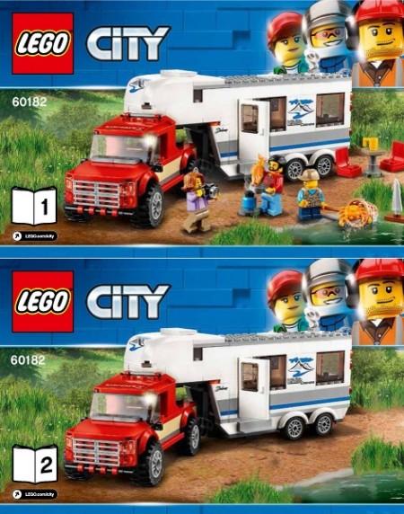 INS60182 60182 BOUWBESCHRIJVING- Pickup&Caravan NIEUW *