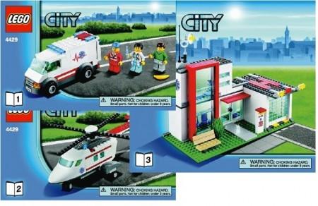 Set 4429 BOUWBESCHRIJVING- Hospital Rescue Treinen Auto gebruikt loc