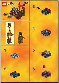 Set 4806 BOUWBESCHRIJVING- Axe Cart  gebruikt loc