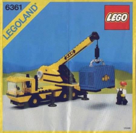 Set 6361 BOUWBESCHRIJVING- Mobile Crane gebruikt loc LOC M2