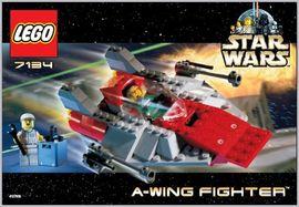 Set 7134 - Star Wars: A-Wing Fighter- Nieuw
