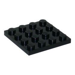 3031-11 Platte plaat 4x4 zwart NIEUW *5K0000