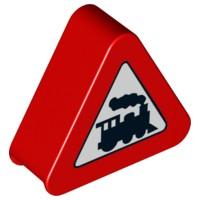 42025pb06-1 DUPLO Waarschuwingsbord overweg wit NIEUW *