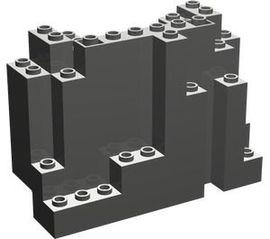 6082-10G Rechthoekig rotsstuk (BURP) LET OP: Kan niet door brievenbus, pakketzending donker, grijs (klassiek) gebruikt *5D0000