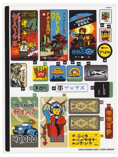 70620stk01 STICKER:70620 Ninjago Movie sticker 1 NIEUW *0S0000