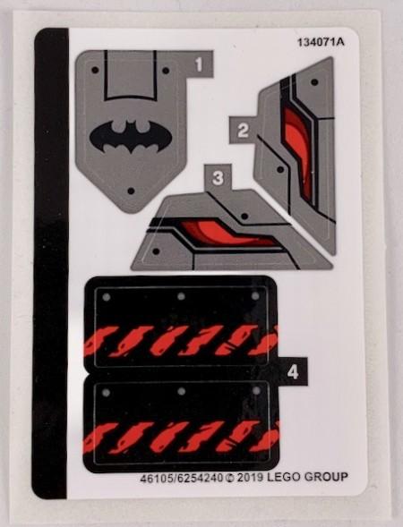 76117stk01 STICKER Batman Mech vs. Poision Ivy Mech NIEUW *0S0000