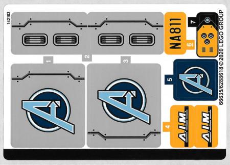 76143stk01 STICKER 76143 Avengers Truck- Take-Doen NIEUW loc