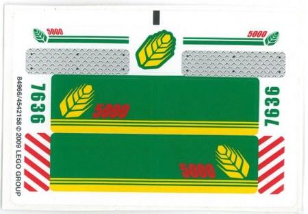 7636stk01 STICKER: Combine Harvester NIEUW *0S0000