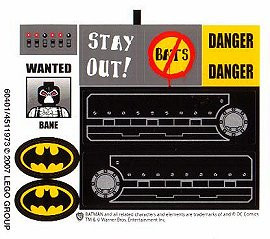 7787stk01 STICKER: BATMAN- Battank NIEUW *0S0000
