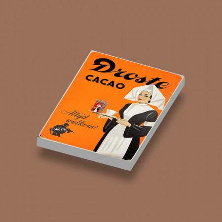 CUS0021 Tegel 2x3 Droste Cacao wit NIEUW *0A000