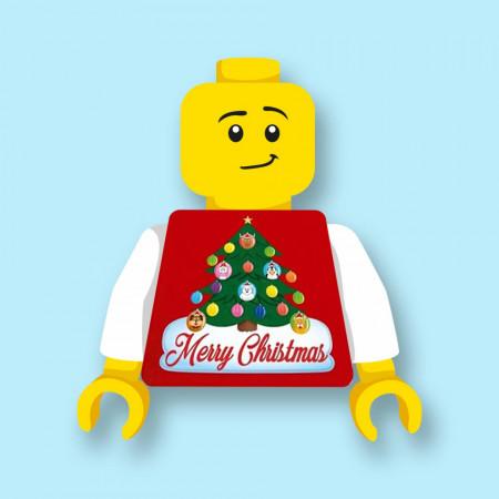 CUS9065 Torso (zonder hoofdje) Foute kersttrui Merry Christmas 1 *0A000