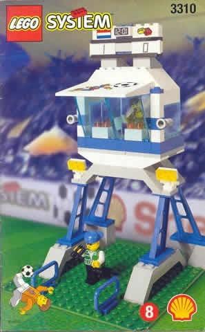 INS3310-G 3310 BOUWBESCHRIJVING- Voetbal commentator- en persbox gebruikt *LOC M1
